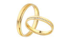 Diamantové svadobné obrúčky 0,120 ct Yasmine diamonds 3,5 mm IZOBBR016