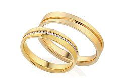 Diamantové svadobné obrúčky 0,120 ct Yasmine diamonds 4 mm IZOBBR001-4