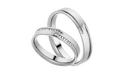 Diamantové svadobné obrúčky 0,170 ct Yasmine diamonds 4 mm IZOBBR012A