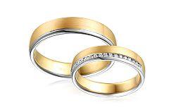 Diamantové svadobné obrúčky 0,180 ct Yasmine diamonds 4,5 mm IZOBBR023AY