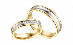 Diamantové svadobné obrúčky 0,180 ct Yasmine diamonds 4,5 mm IZOBBR030