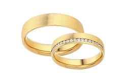 Diamantové svadobné obrúčky 0,190 ct Yasmine diamonds 4,5 mm IZOBBR023