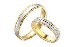 Diamantové svadobné obrúčky 0,200 ct Yasmine diamonds 4 mm IZOBBR022AY