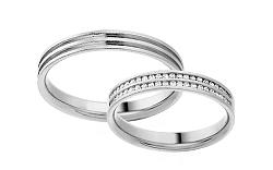 Diamantové svadobné obrúčky 0,220 ct Yasmine diamonds 3,5 mm IZOBBR005A