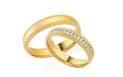 Diamantové svadobné obrúčky 0,220 ct Yasmine diamonds 4 mm IZOBBR022