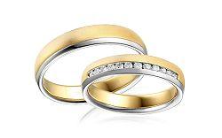 Diamantové svadobné obrúčky 0,240 ct Yasmine diamonds 4,5 mm IZOBBR014AY