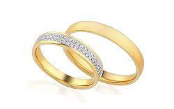 Diamantové svadobné obrúčky 0,280 ct Yasmine diamonds 4 mm IZOBBR013