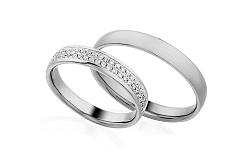 Diamantové svadobné obrúčky 0,280 ct Yasmine diamonds 4 mm IZOBBR013A