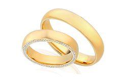 Diamantové svadobné obrúčky 0,340 ct Yasmine diamonds 4,5 mm IZOBBR006