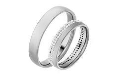 Diamantové svadobné obrúčky 0,480 ct Yasmine diamonds 4 mm IZOBBR004A