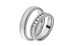 Diamantové svadobné obrúčky 0,500 ct Yasmine diamonds 5 mm IZOBBR002A