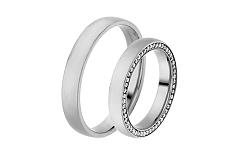 Diamantové svadobné obrúčky 0,530 ct Yasmine diamonds 3,5 mm IZOBBR007A