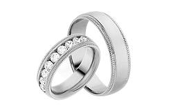 Diamantové svadobné obrúčky 0,900 ct Yasmine diamonds 6 mm IZOBBR003A