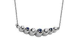Diamantový náhrdelník Lea blue 0,070 ct KU278