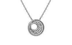 Diamantový náhrdelník z bieleho zlata KU464A