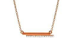 Diamantový náhrdelník z ružového zlata KU427