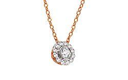 Diamantový náhrdelník z ružového zlata KU451