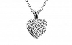 Diamantový prívesok 0,140 ct Magic Heart white KU175A