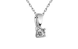 Diamantový prívesok 0,160 ct Estelle middle white CSBR40AP