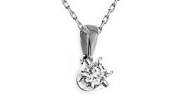 Diamantový prívesok Nela white 0,160 ct CSBR51AP