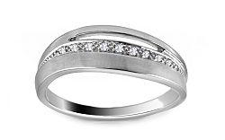 Diamantový prsteň 0,050 ct Deluxe Line DB0014A