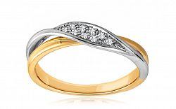 Diamantový prsteň 0,050 ct Deluxe Row DB0015