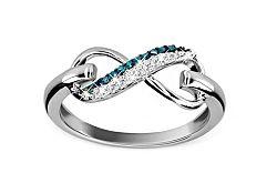 Diamantový prsteň 0,070 ct Infinity KU164BL