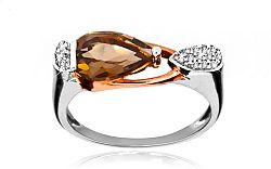 Diamantový prsteň 0,070 ct so záhnedou Kaliope KU185