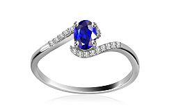 Diamantový prsteň 0,072 ct Victorian blue Tear DM008APR