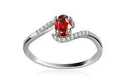 Diamantový prsteň 0,072 ct Victorian red Tear DM009APR