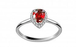 Diamantový prsteň 0,080 ct Victorian red Drop DM017APR