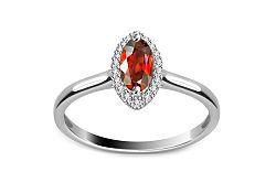 Diamantový prsteň 0,080 ct Victorian red Eye DM015APR