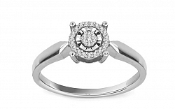 Diamantový prsteň 0,090 ct Magic Moment white KU203A