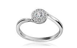 Diamantový prsteň 0,229 ct Midnight dot DM046A