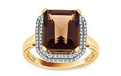 Diamantový prsteň 0,300 ct so záhnedou Kaliope KU186