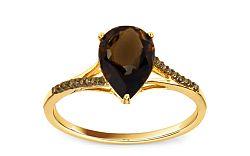 Diamantový prsteň Dioné 0,070 ct Champagne Diamonds KU197