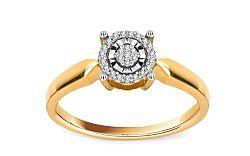 Diamantový prsteň Magic Moment 0,090 ct KU203