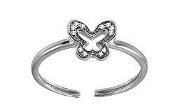 Diamantový prsteň na nohu motýľ 9DM0041