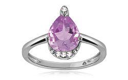 Diamantový prsteň s ametystom 0,040 ct Tarlines KU293A
