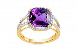 Diamantový prsteň s ametystom Belicia KU508