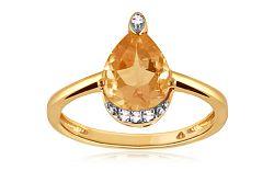 Diamantový prsteň s citrínom 0,040 ct Sumenis KU292