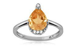 Diamantový prsteň s citrínom 0,040 ct Sumenis white KU292A