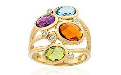 Diamantový prsteň s drahými kameňmi IZBR200