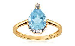 Diamantový prsteň s topásom 0,010 ct Blumeri KU291