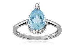 Diamantový prsteň s topásom 0,010 ct Blumeri white KU291A
