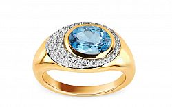 Diamantový prsteň s topásom KU165Y
