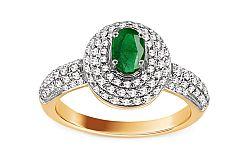 Diamantový prsteň so smaragdom Alaina KU548