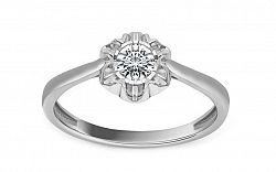 Diamantový prsteň z bieleho zlata Ardiente KU212APR