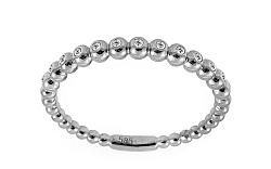 Diamantový prsteň z bieleho zlata IZBR233A