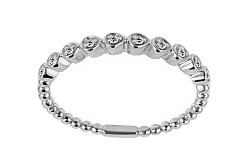 Diamantový prsteň z bieleho zlata IZBR234A